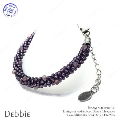Bracelet Debbie en magenta
