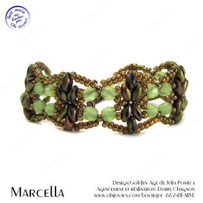 Bracelet Marcella en vert et cuivre