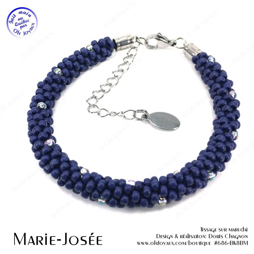 Bracelet Marie-Josée en marine