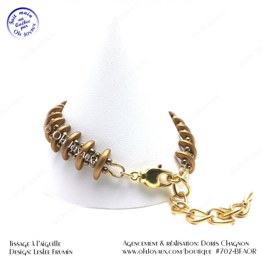 Bracelet Sur la bonne voie en or cuivré