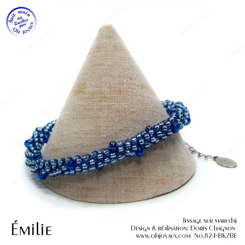 Bracelet Émilie en bleu saphir