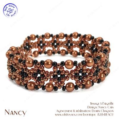 Bracelet Nancy dans les tons de cuivré et noir