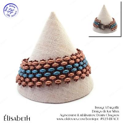 Bracelet Élisabeth en cuivre et turquoise