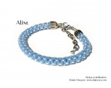 "Bracelet ""Aline"" en bleu et blanc"