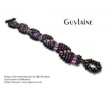 """Bracelet """"Guylaine"""" en lilas mauve"""