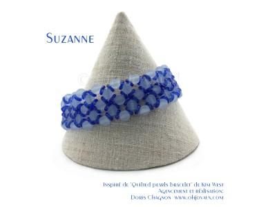 "Bracelet ""Suzanne"" en bleu"