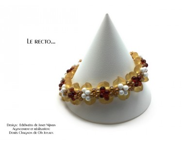 """Bracelet """"Nuits étoilées"""" en or"""