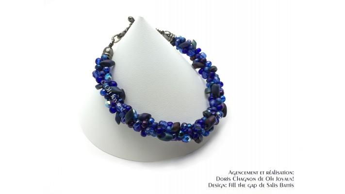 Bracelet bleu saphir