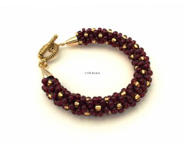"""Bracelet """"L'or et le rubis"""""""
