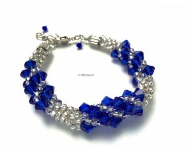 "Bracelet ""Bling Bling"" de cristaux bleus"