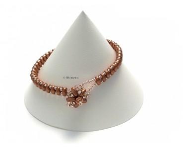 """Bracelet """"Bouton de fleur"""" or"""