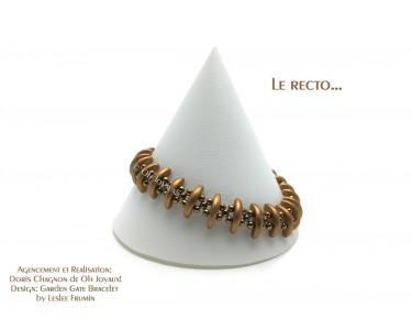 """Bracelet """"Sur la bonne voie"""" en or cuivré"""