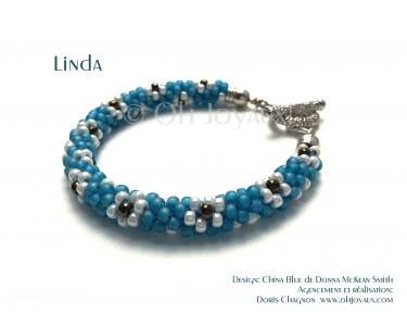"""Bracelet """"Linda"""" en bleu et argent"""