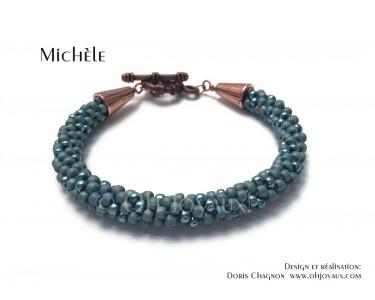 """Bracelet """"Michèle"""" en turquoise"""