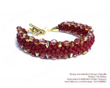 """Bracelet Kumihimo """"Sur la route"""" siam"""