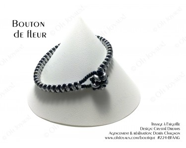 """Bracelet """"Bouton de fleur"""" argent"""