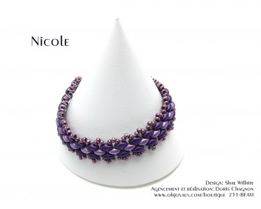 "Bracelet ""Nicole"" aubergine"