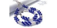 Bracelet Bling Bling de cristaux bleus