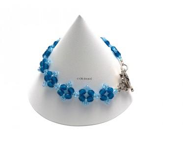 "Bracelet ""Poinsettia"" de couleur aqua marine"