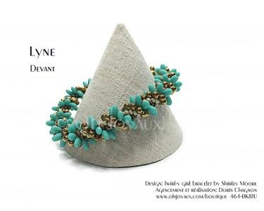 """Bracelet """"Lyne"""" en turquoise et cuivré"""