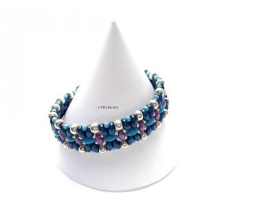 """Bracelet """"Vol de papillons bleus"""""""