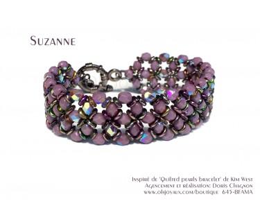 """Bracelet """"Suzanne"""" en mauve"""