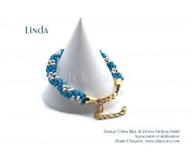 "Bracelet ""Linda"" en bleu et doré"