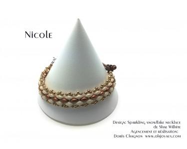 """Bracelet """"Nicole"""" crème"""
