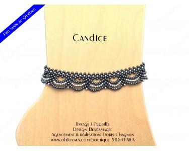 """Bracelet de cheville """"Candice"""" de couleur hématite et argenté"""
