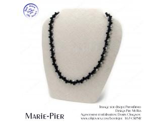 Collier Marie-Pier en noir et gris