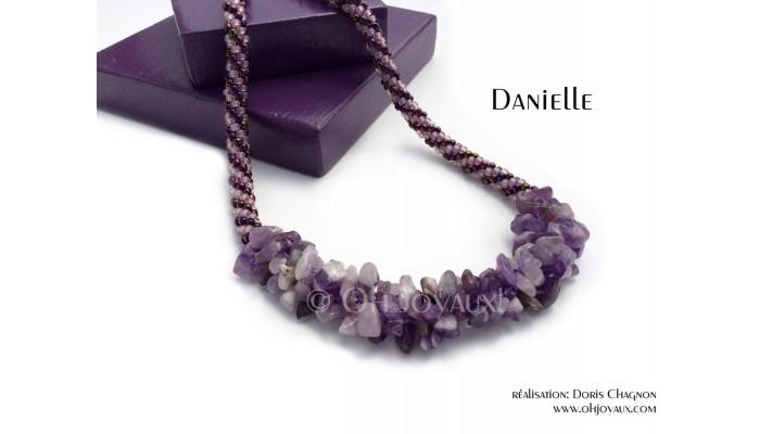"""Collier """"Danielle"""" améthyste"""