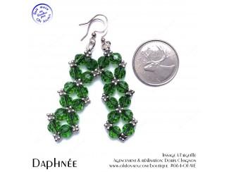 Boucles d'oreilles Glamour en cristal vert