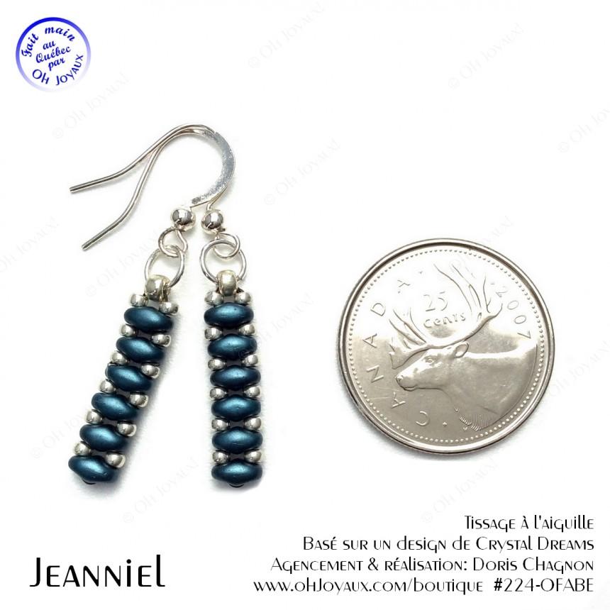 Boucles d'oreilles Petites chandelles en sarcelle bleu pétrole