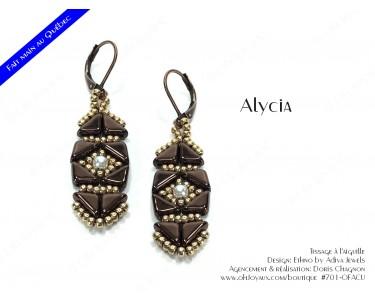"""Boucles d'oreilles """"Alycia"""" en cuivre et champagne"""