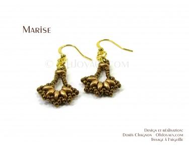 """Boucles d'oreilles """"Marise"""" en cuivré"""