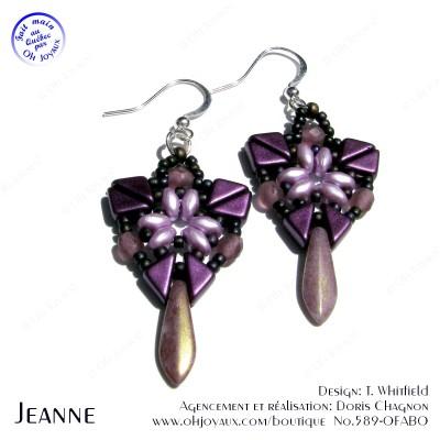 Boucles d'oreilles Jeanne en bourgogne,'