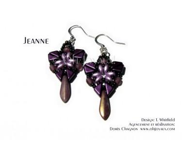 """Boucles d'oreilles """"Jeanne"""" en bourgogne"""