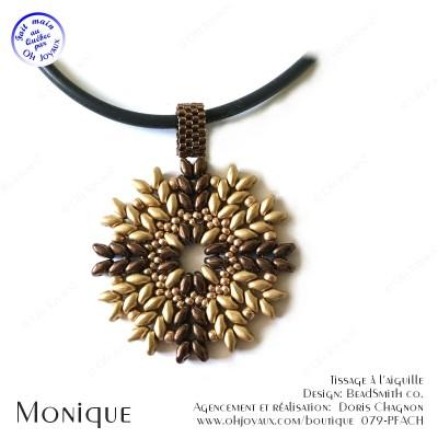 Pendentif Monique en champagne/bronze