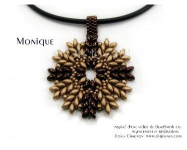"""Pendentif """"Monique"""" en champagne/bronze"""